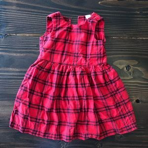 3T Girl CARTERS Red and Black Plaid Dress Toddler